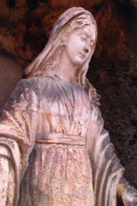 Vierge Marie avant restauration